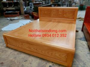 Giường ngủ gỗ gõ đỏ giá rẻ