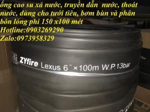 Ống cao su dệt cao áp phi 100, phi 125 , phi 150, phi 200 (100 mét x 1 cuộn)