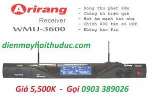 Micro Không Dây Arirang WMU 3600 Chất âm vượt trội, sóng thu phát mạnh mẽ