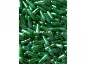 1000 viên nang rỗng vỏ nang cứng gelatin size 0 màu xanh đậm nhạt