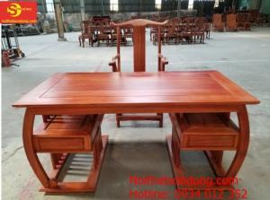 Bộ bàn ghế làm việc khổng minh gỗ hương huyết BLV06