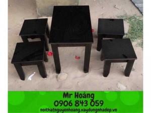 Bộ bàn ghế gỗ caosu giá rẻ
