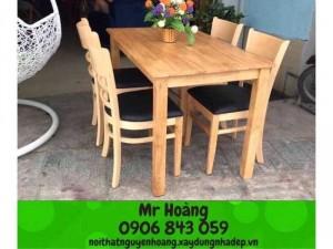 Bộ bàn ghế gỗ nệm giá rẽ - Nội thất Nguyễn hoàng