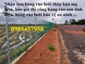 Hàng rào lưới thép hàn phi 5 ô 50*150, 50*200, 75*200 - Lưới thép hàng rào
