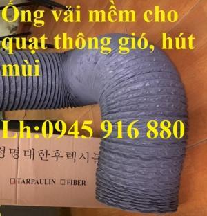 Ống gió mềm vải có lõi thép Hàn Quốc dẫn khói, gom bụi, thông gió