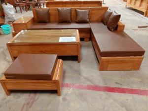 Bộ bàn ghế Sofa thời thượng kiểu mới gỗ gõ đỏ