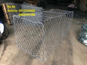 Rọ Đá mạ kẽm, rọ đá bọc nhựa khổ 2x1x1, 2x1x0,5 làm theo yêu cầu
