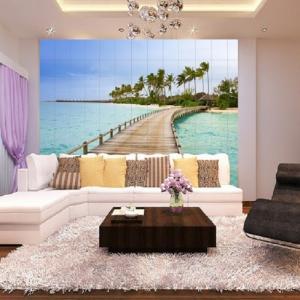 Tranh gạch 3d phòng khách