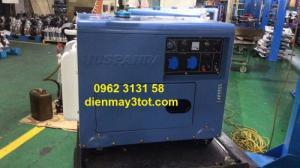 Máy phát điện chạy dầu 5kw Huspanda HD 6600 cách âm cho hộ gia đình giá rẻ