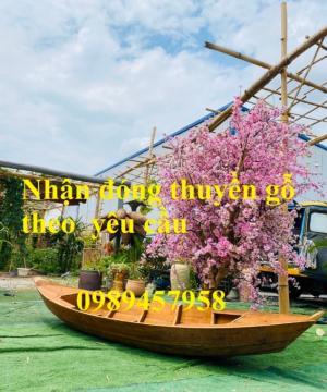 Đóng thuyền gỗ ba lá 3m,3,5m và 4m theo yêu cầu