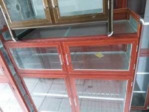 Tủ nhôm kính chén bát loại nhôm vân gỗ