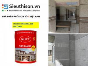 Nhà cung cấp sơn giả đá kova giá rẻ nhất tại Sài Gòn