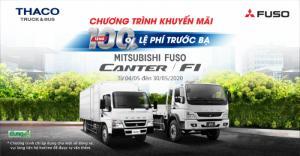 Khuyến Mãi 100% lệ phí trước bạ xe tải Mitsubishi Fuso trong tháng 5