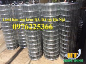 Lưới thép hàn mạ kẽm D3 a50x50, D4 a50x50, D2,5 a50x50, D2 a50x50