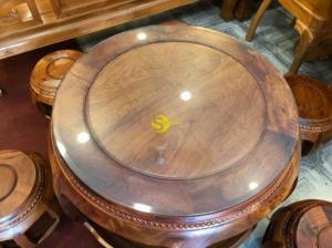 Bộ bàn ghế kiểu trống gỗ tự nhiên 7 món