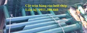 Cột Hàng Rào Lưới Thép D60, D76, D90,... Mạ Kẽm Sơn Tĩnh Điện