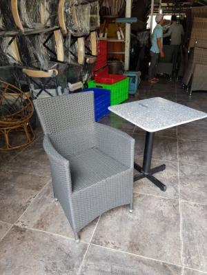 Bàn ghế cafe ngoài trời giá rẻ ghế diana khung nhôm
