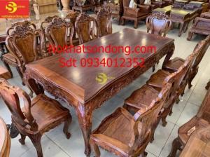 Bộ bàn ăn louis cẩm lai VIP 10 ghế BBA430