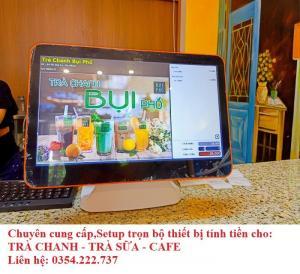 Lắp đặt máy tính tiền cho Coffee- Trà Sữa- Trà Chanh giá rẻ