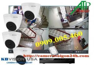 Trọn bộ 4 camera quan sát kbvison- Giai pháp an toàn