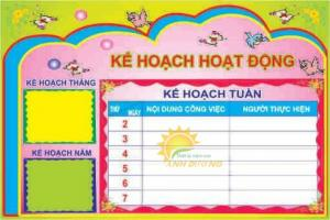 Cung cấp bảng tuyên truyền, bảng biểu, bảng nội quy cho trường lớp mầm non