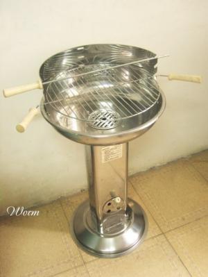 Bếp nướng than hoa ngoài trời Landmann ck242inox trắng