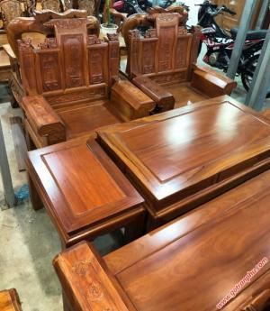 Bộ ghế sa lông gỗ gõ đỏ Lào Á Âu