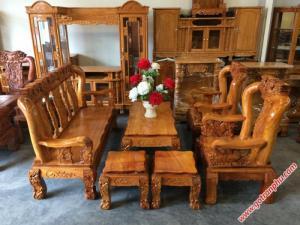 Salon gỗ tay 12 gỗ gõ đỏ Việt Nam