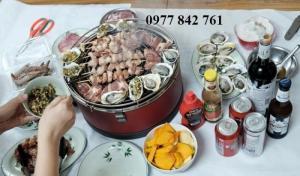 Bếp nướng than hoa không khói Đức Feuerdesign Mayon hình tròn