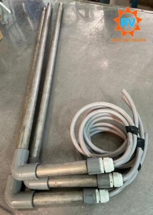 Điện trở đun nước kèm hoá chất  L phi 25-900-200-380V-3KW