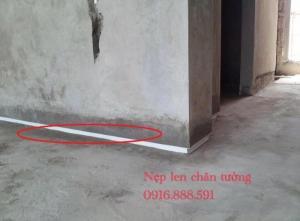 Nẹp tách khe sàn - Nẹp chặn vữa - Nẹp tạo len chân tường chống thấm.
