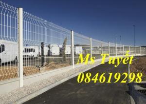 Hàng rào lưới thép mạ kẽm, lưới thép điện phân, sản xuất và lắp đặt