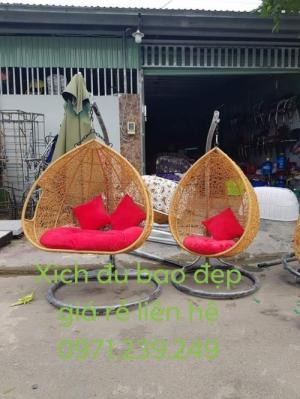 Xích đu giá siêu rẻ bán tại nơi sản xuất bàn ghế nhựa giả mây nhựa đúc bàn ghế gỗ