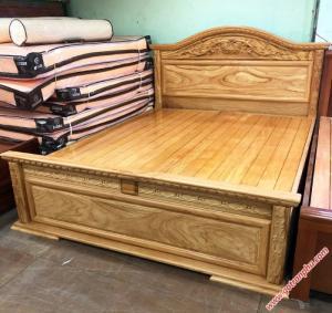 Giường đẹp gỗ gõ đỏ dát giường phản 1m8 x 2m