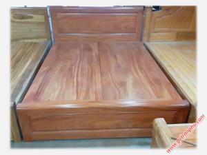 Giường giá rẻ gỗ hương đá dát phản 1m8 x 2m