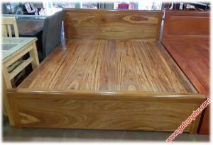 Giường  1m6 gỗ hương xám dát phản