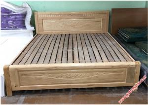 Giường ngủ gỗ giá rẻ gỗ sồi Nga 1m8 x 2m