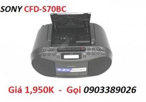 Máy Cassette Radio CD Sony CFD-S70 có hộc băng, hàng chính hãng