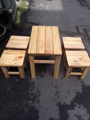 Ghế đẩu gỗ cafe