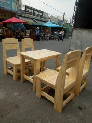 Ghế đẩu gỗ cafe cóc