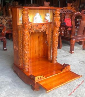 Bàn thờ ông địa đẹp gỗ xoan đào