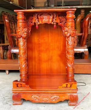 Bàn thờ ông địa giá rẻ gỗ xoan đào (86*60*60cm)