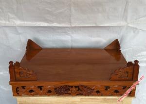 Bàn thờ treo tường gỗ gõ đỏ ngang 80cm