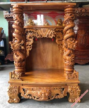 Tủ thờ gỗ gõ đỏ lào