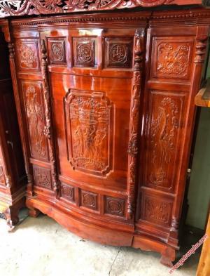 Tủ thờ đẹp gỗ xoan đào 4 chân