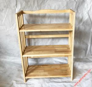 Kệ gỗ 3 tầng đựng sách màu gỗ tự nhiên ngang 65cm
