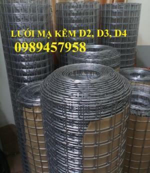 Lưới thép phi 4 ô 50x50 mạ kẽm cuộn khổ 1,2x2m và 1,5mx2m và 1,5x3m có sẵn