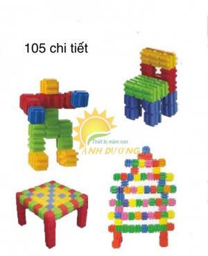Đồ chơi lắp ráp nhiều chi tiết cho trẻ em mầm non học tập, vui chơi