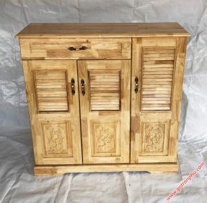 Tủ dép gỗ cao su 3 cánh 1 ngăn kéo