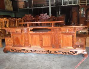 Kệ tv gỗ gõ đỏ gỗ tự nhiên